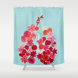 Simply Breathe - Lungs For Whitney Shower Curtain