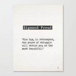 Sigmund Freud quote Canvas Print