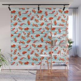 Watercolor Goldfish Wall Mural