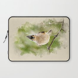 Watercolor Tufted Titmouse Art Laptop Sleeve