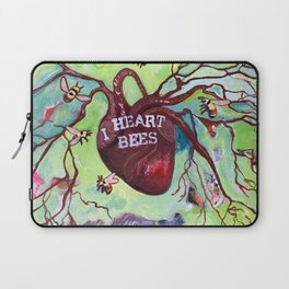 I Heart Bees Laptop Sleeve