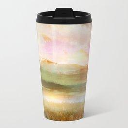 Sunset and flowers Travel Mug