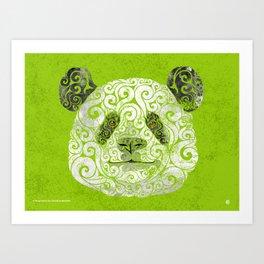 Swirly Panda Art Print