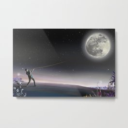 Peel the moon and expose it Metal Print