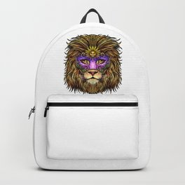 Mardi Gras | Pride Lion With Cute Mask Backpack