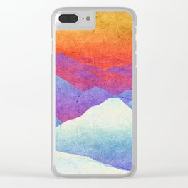 Hilly Lands - rainbow-colored Clear iPhone Case