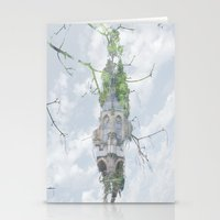 castle in the sky Stationery Cards featuring castle in the sky by Phil Hill
