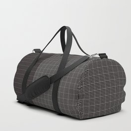 Back to School- Simple Grid Pattern - Black & White - Mix & Match with Simplicity of Life Duffle Bag