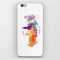 poland iPhone & iPod Skins featuring Cracow Poland skyline by jbjart