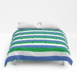 Siera Leone flag stripes Comforters