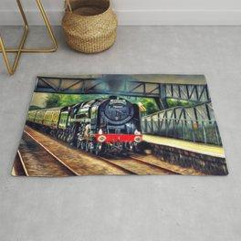 Steam Engine Locomotive Rug