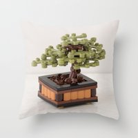zen Throw Pillows featuring Zen by powerpig