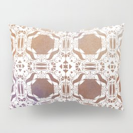 WHITE AND GOLD WATERCOLOR MOSAIC  Pillow Sham