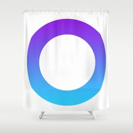 Gradient ring Shower Curtain