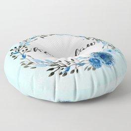 HP Ravenclaw in Watercolor Floor Pillow