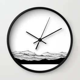 Gentle Landscape, 'Santa Ana Winds' Wall Clock