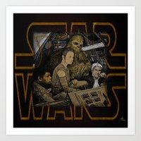 starwars Art Prints featuring STARWARS by zinakorotkova