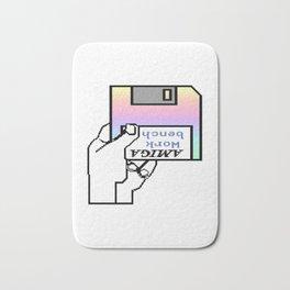 Amiga workbench vaporwave insert disk Bath Mat