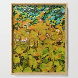 Colored Nature Print Serving Tray