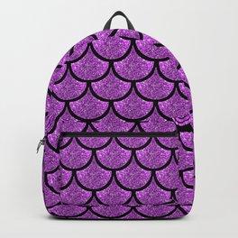 Purple mermaid scale with  glitter effect Backpack