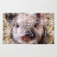 piglet Area & Throw Rugs featuring scribbled Piglet by MehrFarbeimLeben