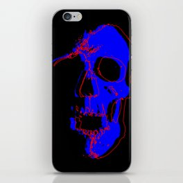 Skull - Blue iPhone Skin