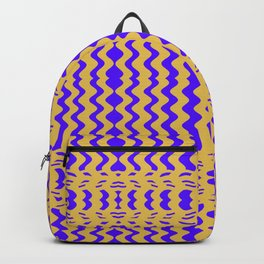 Bright Purple Yellow Wavy Lines Backpack