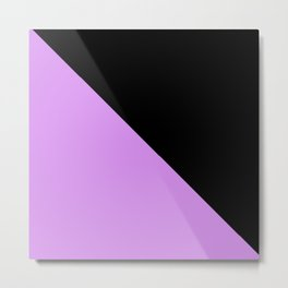 Light Purple and Black Metal Print