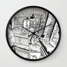 Plug Nickel Wall Clock