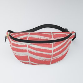 Herringbone (Red & Stone) Fanny Pack