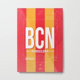 Barcelona Airport Code BCN Poster Metal Print