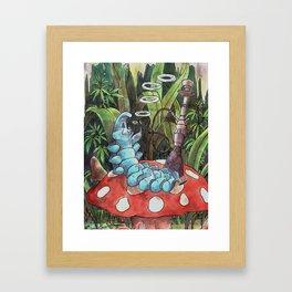 Psychedelic Hookah-Smoking Caterpillar Framed Art Print