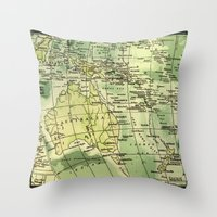 oz Throw Pillows featuring Oz Land by strentse