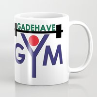 gym Mugs featuring Gadehave Gym by Søren Grarup Munk