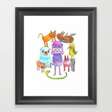 Animal Pyramid Framed Art Print