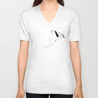 mouth V-neck T-shirts featuring Mouth by Heiko Hoos