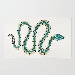 Emerald & Gold Serpent Rug