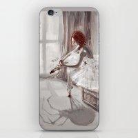 ballerina iPhone & iPod Skins featuring Ballerina by Monika Gross