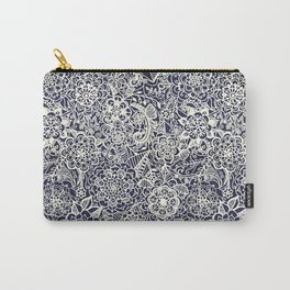 Lace on Nautical Navy Blue Carry-All Pouch