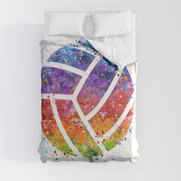 Volleyball Ball Colorful Watercolor Art Sports Gift Comforters