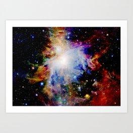GaLaXY : Orion Nebula Dark & Colorful Art Print