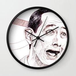 Pee Wee Herman by Aaron Bir Wall Clock