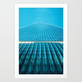The Blue Architecture (Color) Art Print