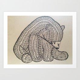 Bearly Intricate Art Print