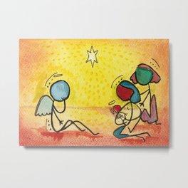 #cagsticks Nativity Scene 2 Metal Print