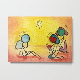 #cagsticks Nativity Scene 2 Metal Print