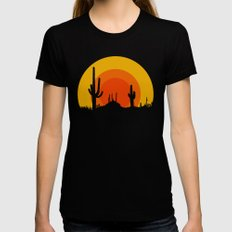 mucho calor Womens Fitted Tee MEDIUM Black