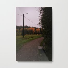 Cloudy autumn day Metal Print
