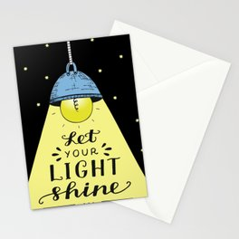 Let Your Light Shine Christian Religious Blessings Stationery Cards