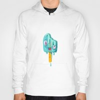 popsicle Hoodies featuring Melty Popsicle by Nate Bear